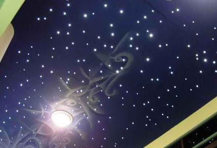 Услуги - Натяжные потолки с эффектом звездного неба